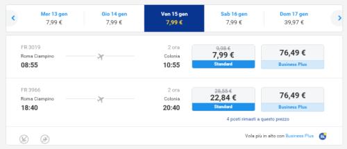voli economici Ryanair da Roma per Colonia