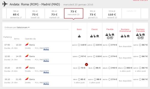 voli Iberia Roma Madrid scontati