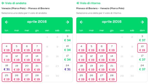 voli low cost per Monaco di Baviera Venezia