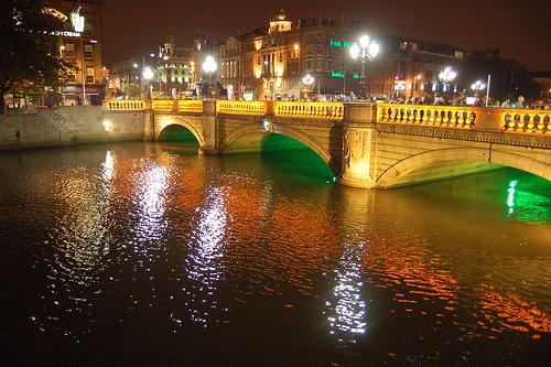 O Connell bridge Dublino