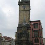 La torre dell'orologio a Praga