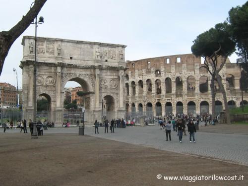 Colosseo Arco di Costantino Roma