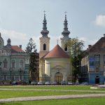 A Timisoara nella bellissima Piata Unirii