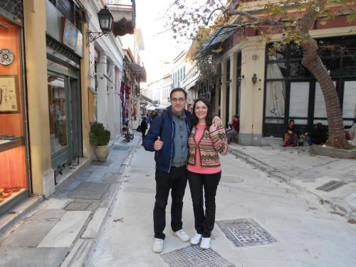 Nicola Spina e Rossella de Gennaro ad Atene