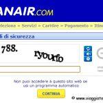 Ryanair reintroduce i codici captcha!