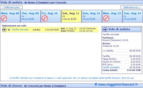 Nuova Interfaccia Selezione Voli Ryanair