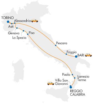 Arenaways Tratte notturne Italia