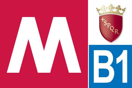 Logo Metropolitana B1 Roma