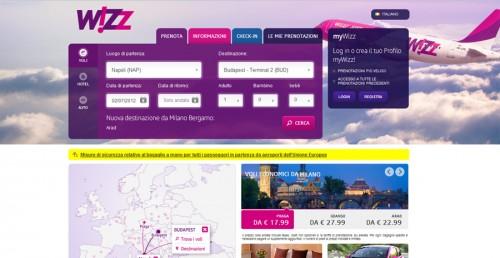 Wizzair sito nuovo