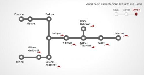 Italo Treno mappa collegamenti