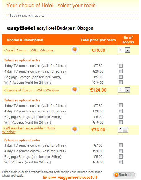 Prenotare una o più camere easyhotel