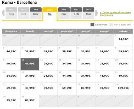 Spagna low cost voli