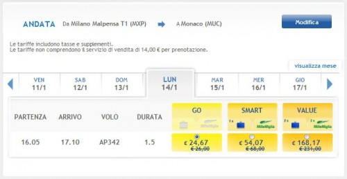 Weekend low cost Voli Airone