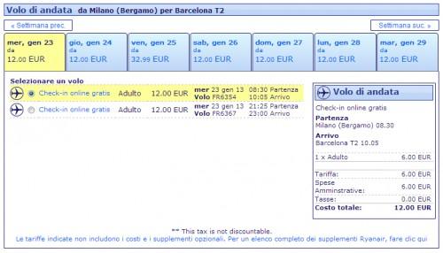 Voli Ryanair Milano Barcellona