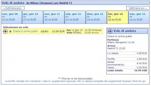 Voli Ryanair Milano Madrid