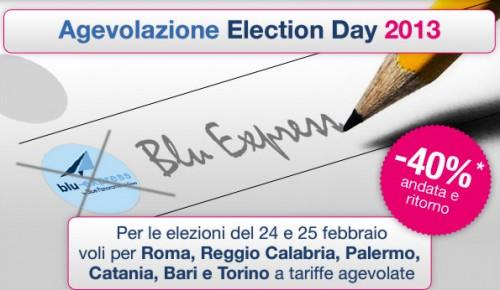 Elezioni 2013 Agevolazioni Voli