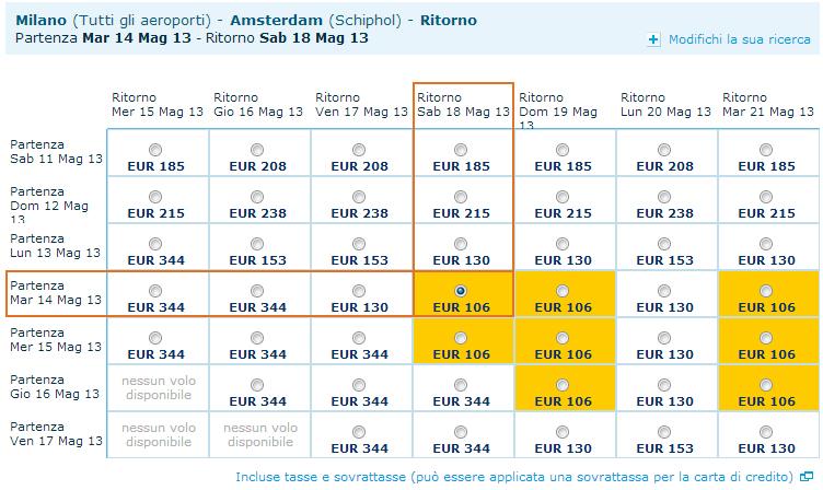 voli low cost per amsterdam a 104 a r tutto incluso