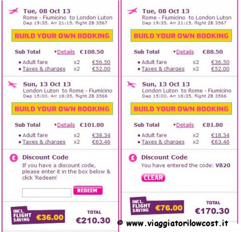 Coupon sconto Monarch Airlines