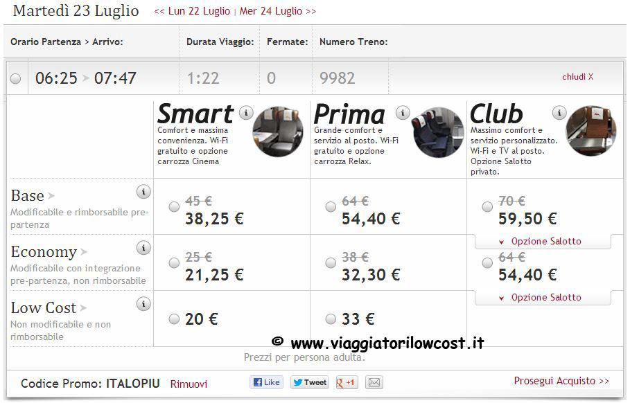 Codice Sconto Italo Treno Del 15 Per Il 2013 Viaggiatori