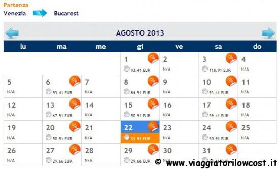 voli low cost Venezia Bucarest