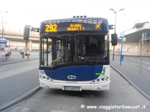Come arrivare dall'aeroporto di Cracovia al centro città
