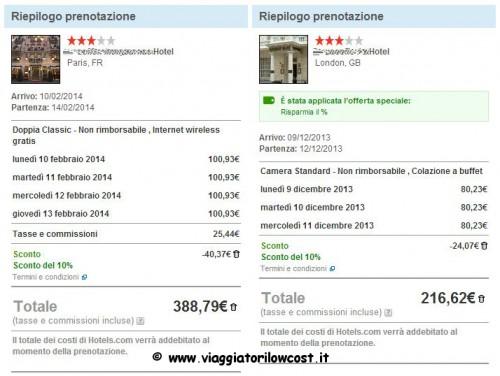 codice sconto Hotels.com 2014