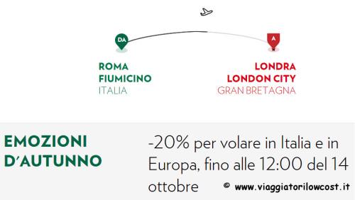 codice sconto Alitalia e Airone