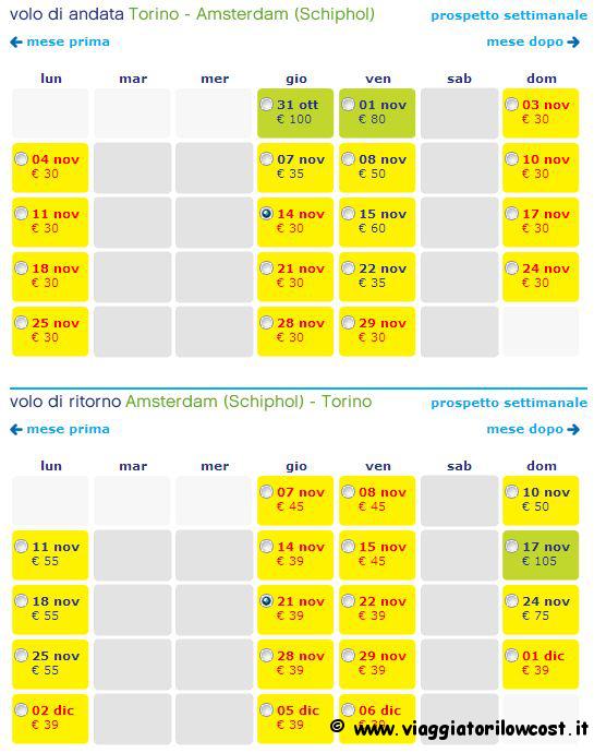 voli low cost per amsterdam a 30 per il 2013 e 2014