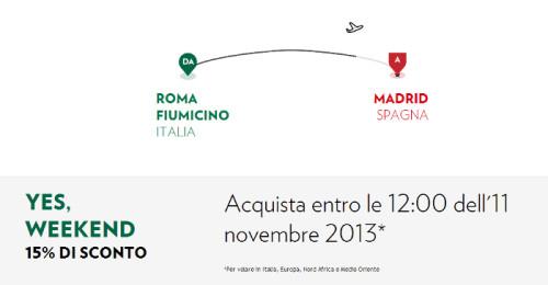 codice sconto Alitalia ed Airone