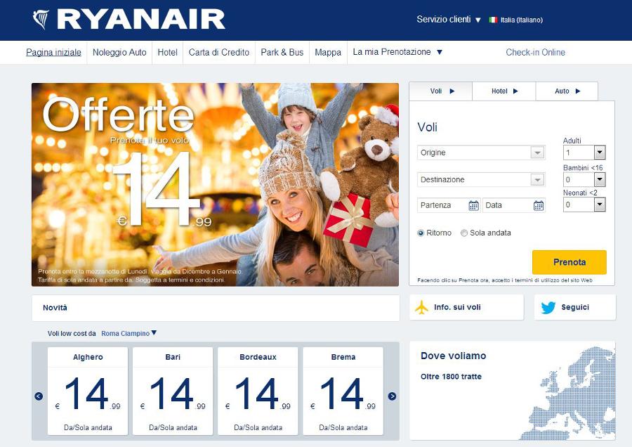 Sito ufficiale ryanair nuovo design e prenotazioni veloci - Luxens sito ufficiale ...