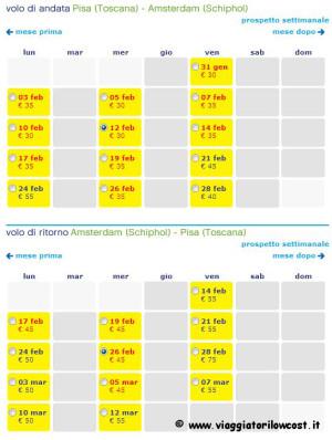 Voli low cost per Amsterdam