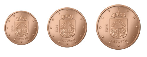 nuova moneta lettone