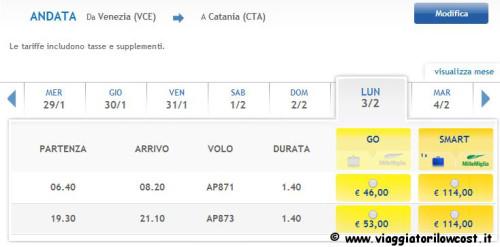Voli nazionali per Catania