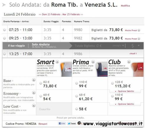 codice promo Italo Venezia