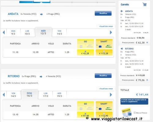 voli low cost 2x1 di Airone