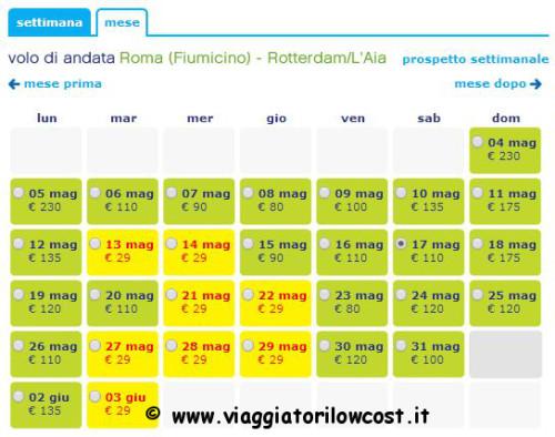 voli low cost per Rotterdam