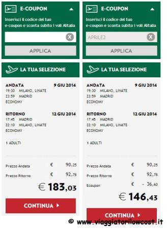 codice Alitalia sconto 2014
