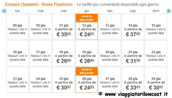 Voli low cost easyJet estate 2014