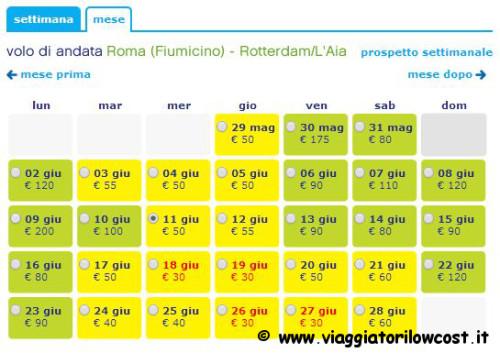 voli low cost per l'Olanda 2014
