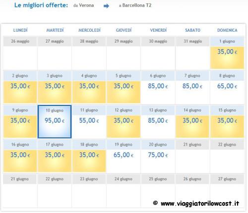 voli low cost Verona Airone