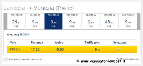 voli low cost Ryanair a 9 euro