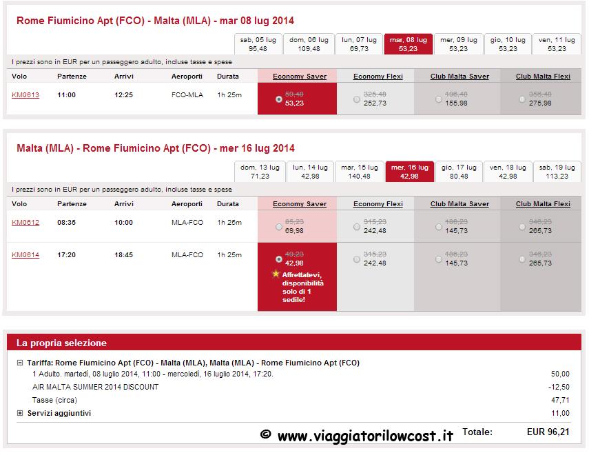 Estate 2014 voli per malta scontati del 25 viaggiatori for Voli low cost per amsterdam