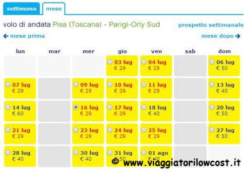 voli low cost in offerta Transavia