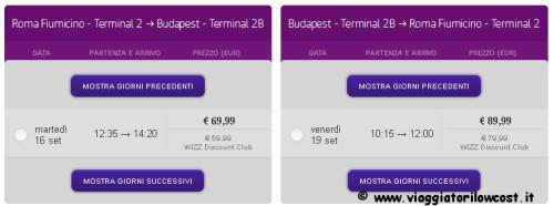 voli low cost wizzair 2x1