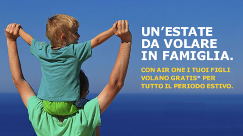 voli gratis bambini Airone