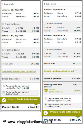 codice sconto Vueling Low Cost