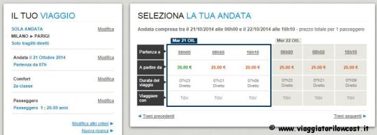 Biglietti Parigi low cost 25 euro