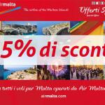 Voli per Malta con sconto del 25% per viaggiare fino al 2015