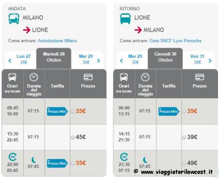 biglietti autobus low cost Francia