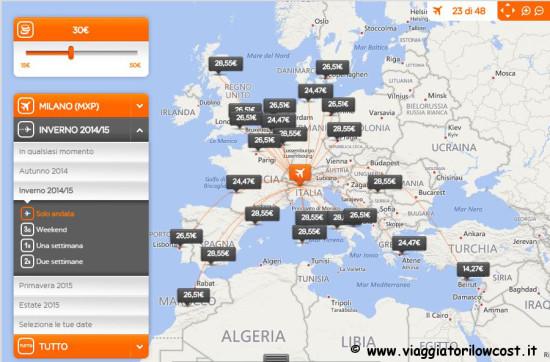 voli low cost EasyJet Italia e Europa